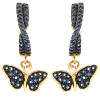 Серьги Roberto Bravo Monarch Butterflies золотые с 86 сапфирами и бриллиантами, фото