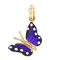 Подвеска-бабочка Roberto Bravo Monarch Butterflies золотая с бриллиантом, фото