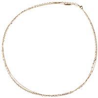 Короткая двойная золотая цепь Roberto Bravo с якорным плетением, фото