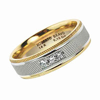 Обручальное кольцо Roberto Bravo Amore Infinito с бриллиантами , фото