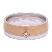 Обручальное кольцо Roberto Bravo Amore Infinito с бриллиантом , фото