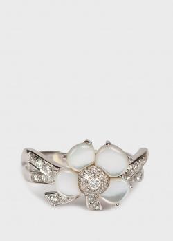 Кольцо из белого золота Mauboussin в виде цветка с бриллиантами, фото