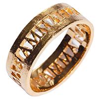 Коктейльное кольцо rockah. Amor Vincit Omnia с позолотой , фото