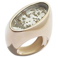 Коктейльное кольцо rockah. Siren's Treasures из ювелирной бронзы с состаренным зеркалом, фото