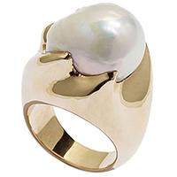 Коктейльное кольцо rockah. Siren's Treasures из ювелирной бронзы с барочной жемчужиной, фото