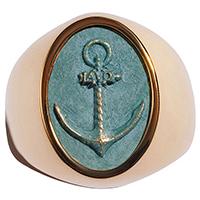 Перстень rockah. Amor Vincit Omnia из ювелирной бронзы с патиной, фото