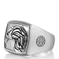Серебряное кольцо Atolyestone London с профилем орла, фото