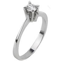 Помолвочное кольцо из золота с бриллиантом, фото