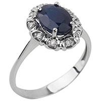 Золотое кольцо-перстень с драгоценными камнями, фото