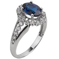 Золотой перстень с драгоценными камнями, фото