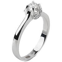 Кольцо с бриллиантами в белом цвете золота, фото