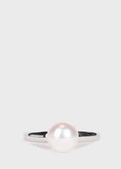 Кольцо с жемчугом Yamagiwa из белого золота, фото