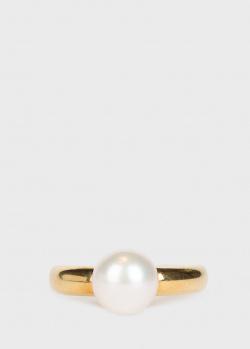 Золотое кольцо Yamagiwa с крупной жемчужиной, фото