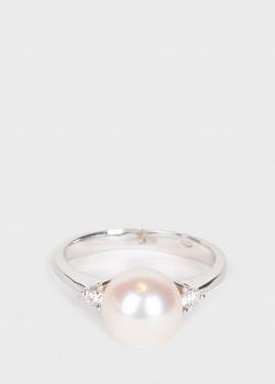 Золотое кольцо Yamagiwa с жемчугом и бриллиантами, фото