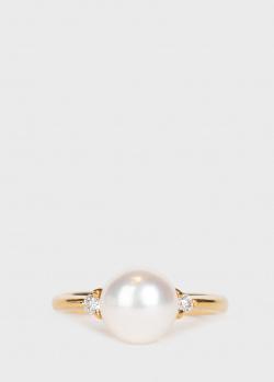 Золотое кольцо Yamagiwa с белыми бриллиантами, фото