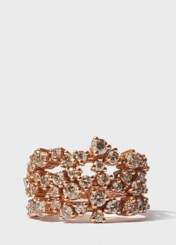 Тройное золотое кольцо Antonellis в бриллиантах (2,19ct), фото