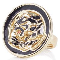 Серебряное кольцо в позолоте Graziella Пантера, фото