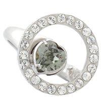 Кольцо Solotuo с серо-зеленым кристаллом Swarovski, фото