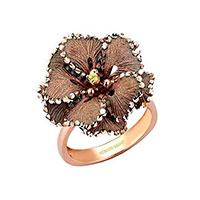 Кольцо Roberto Bravo Soul Dance с коричневым цветком , фото