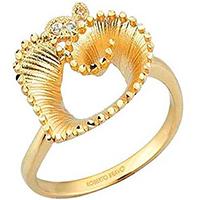 Кольцо Roberto Bravо Soul Dance из желтого золота , фото