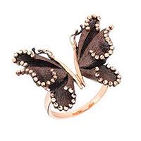 Кольцо Roberto Bravo Soul Dance с черной бабочкой , фото