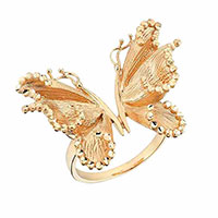Кольцо Roberto Bravo Soul Dance с золотой бабочкой , фото