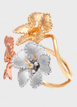 Кольцо Roberto Bravo Soul Dance с цветками в сапфирах, фото