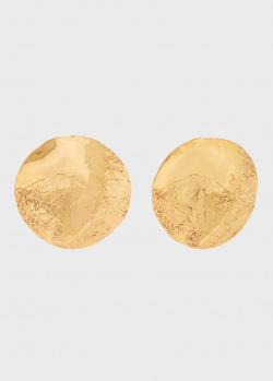 Круглые серьги Misho Lunar с текстурированной поверхностью, фото