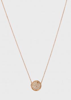 Золотая цепочка Antonellis Capri с кулоном в бриллиантах, фото
