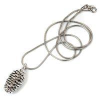 Колье Ester Bijoux Кедровая шишечка в серебре, фото