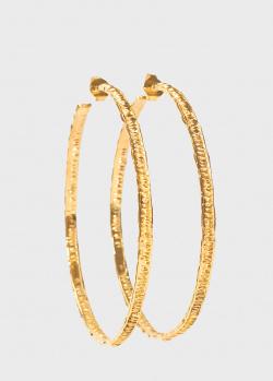 Крупные серьги-кольца Misho Skinny Snake из позолоченной бронзы, фото