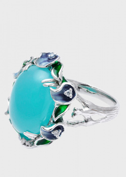 Коктейльное кольцо Roberto Bravo Fairy Tale с фианитами, фото