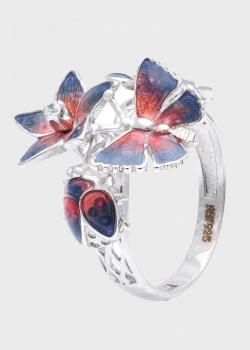 Кольцо Roberto Bravo Tanzanite с цветами и бабочками, фото