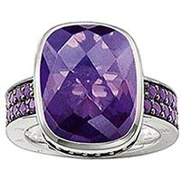Коктейльное кольцо Thomas Sabo с фиолетовыми цирконами, фото
