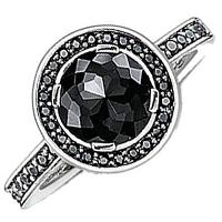 Коктейльно кольцо Thomas Sabo с черными цирконами, фото