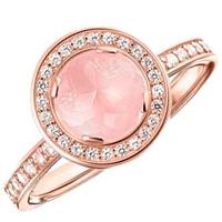 Кольцо Thomas Sabo с розовым кварцем, фото