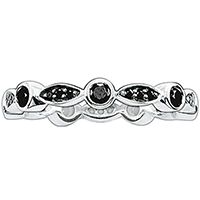 Помолвочное кольцо Thomas Sabo с черными цирконами, фото