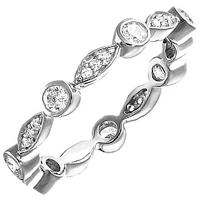 Серебряное кольцо Thomas Sabo с белыми цирконами, фото