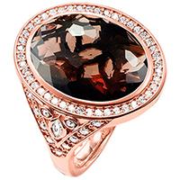Серебряное кольцо Thomas Sabo с дымчатым кварцем, фото
