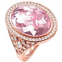 Кольцо Thomas Sabo с розовым цирконом, фото