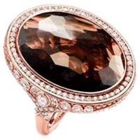 Коктейльное кольцо Thomas Sabo с дымчатым кварцем, фото