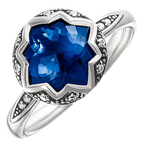 Серебряное кольцо Thomas Sabo с корундом, фото