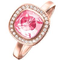 Коктейльное кольцо Thomas Sabo с розовым корундом, фото