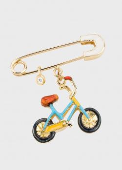 Брошь Roberto Bravo Totiti в виде велосипеда, фото