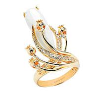Кольцо Roberto Bravo White Dreams из желтого золота , фото