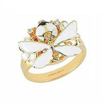 Кольцо Roberto Bravo White Dreams с белыми цветами, фото