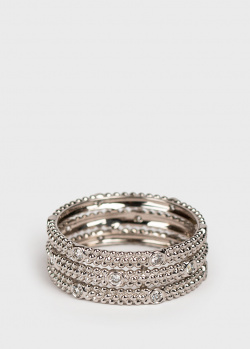 Трехрядное кольцо Mauboussin Le Premier Jour из белого золота, фото