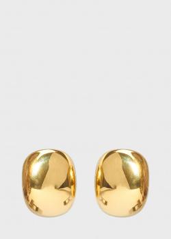 Позолоченные серьги Misho Pebble прямоугольной формы, фото