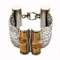Браслет Gucci из серебра Bamboo with cobra chains, фото