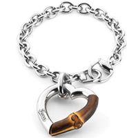 Браслет Gucci из серебра Bamboo with bamboo heart, фото